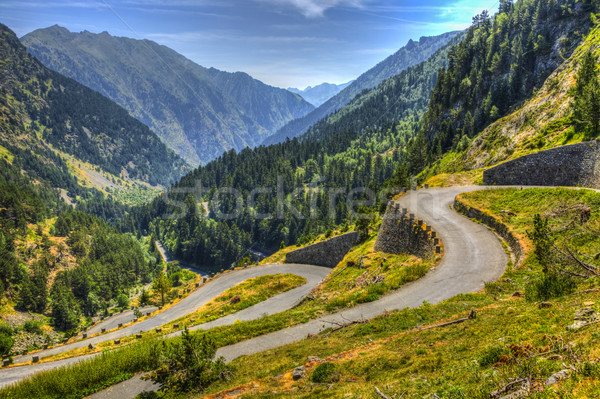 Winding Road in Pyrenees Mountains Stock photo © RazvanPhotography