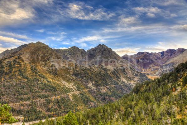 Drogowego góry Francja krajobraz tle transportu Zdjęcia stock © RazvanPhotography