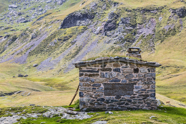 Stone Hut in Pyrenees Stock photo © RazvanPhotography