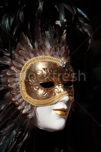 Velencei maszk közelkép kép szuvenír bolt áll Stock fotó © RazvanPhotography