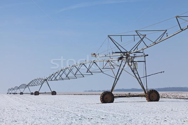 Irrigation pivot in winter Stock photo © RazvanPhotography
