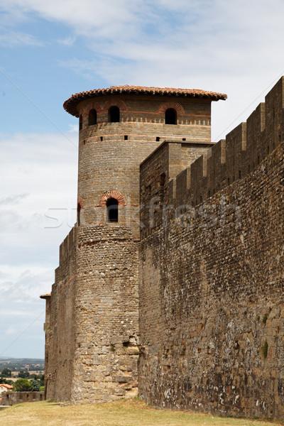 Walls of Carcassonne-detail Stock photo © RazvanPhotography