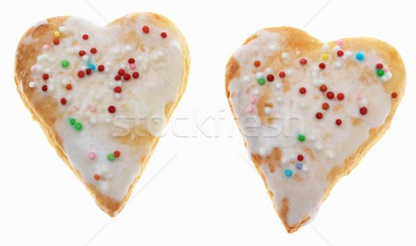 Twee cookies geïsoleerd witte cake christmas Stockfoto © RazvanPhotography