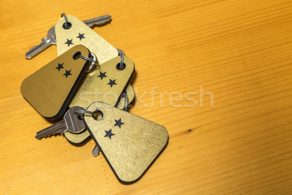 Heap of Two Stars Hotel Room Keys Stock photo © RazvanPhotography