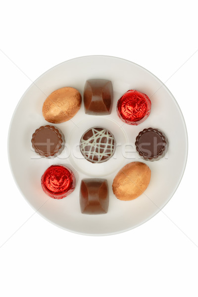 Chocolates on a white plate Stock photo © RazvanPhotography
