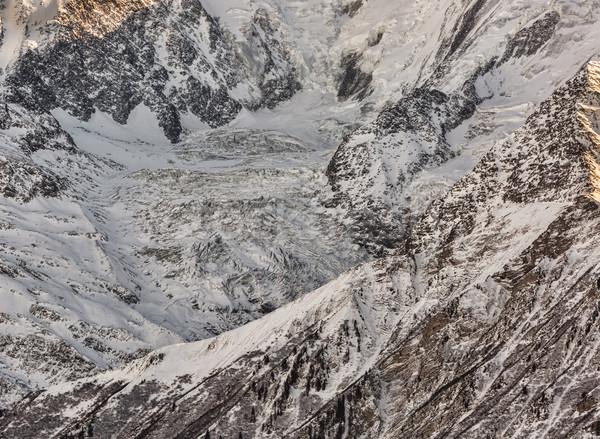 Pormenor geleira francês lado paisagem beleza Foto stock © RazvanPhotography