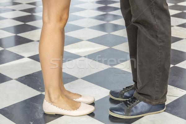 Párok lábak kép pár áll szemtől szembe Stock fotó © RazvanPhotography
