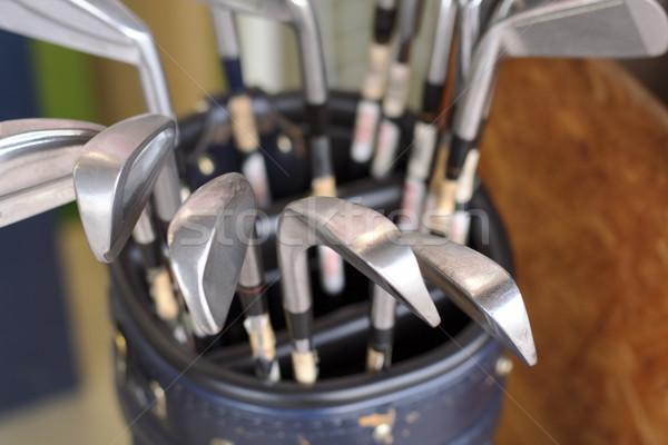 Golfütők táska kilátás szelektív fókusz helyes klub Stock fotó © RazvanPhotography