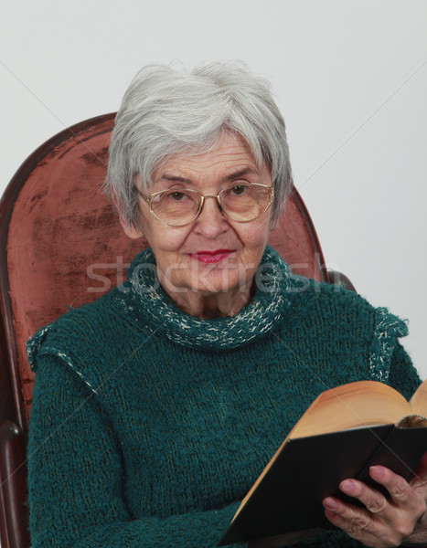 Old woman with a book Stock photo © RazvanPhotography