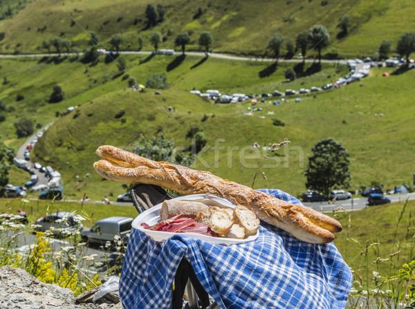 Foto stock: Francés · picnic · dos · frescos · baguettes · salami