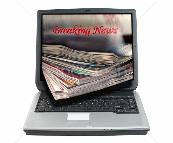 Breaking news-clipping path Stock photo © RazvanPhotography