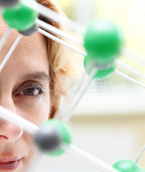 Stock photo: The eye of a researcher