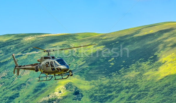 Helicopter in Mountains Stock photo © RazvanPhotography