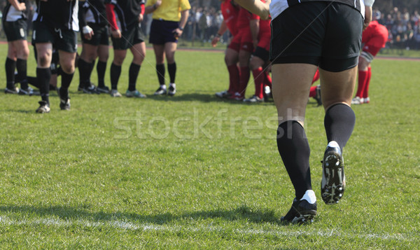 Vervanging abstract afbeelding team spel rugby Stockfoto © RazvanPhotography