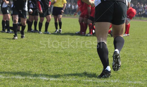 Substituição abstrato imagem equipe jogo rugby Foto stock © RazvanPhotography