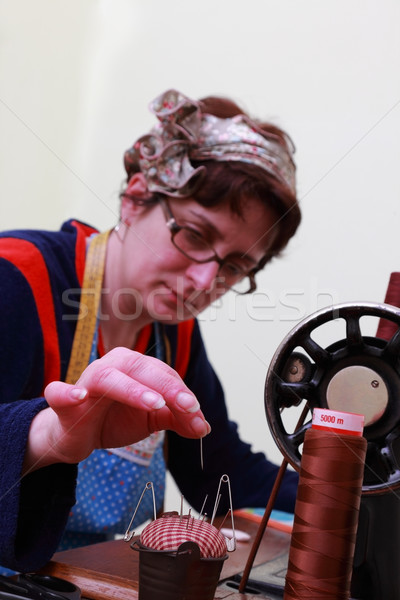 Needlewoman Stock photo © RazvanPhotography