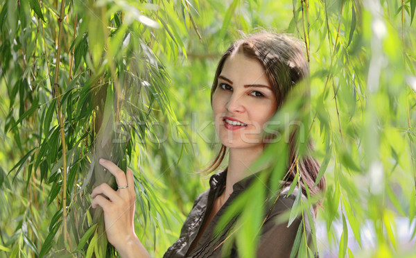 Young Woman in a Willow Stock photo © RazvanPhotography