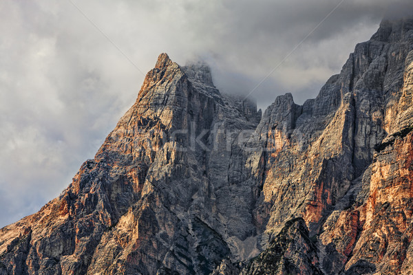 Peaks and Clouds in Dolomites Mountains Stock photo © RazvanPhotography