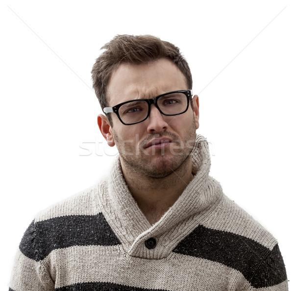 Portrait of a Yound Perplexed Man Stock photo © RazvanPhotography
