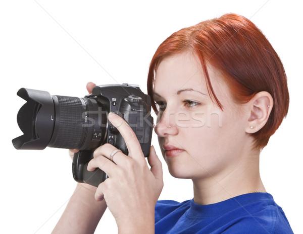 Girl photographer Stock photo © RazvanPhotography