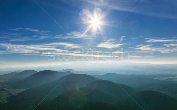 Vulkáni tájkép gyönyörű lencse helyszín központi Stock fotó © RazvanPhotography