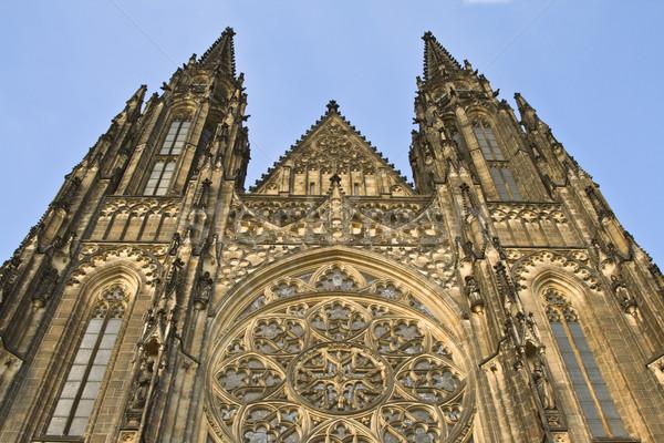 Castelo impressionante imagem belo arquitetura catedral Foto stock © RazvanPhotography