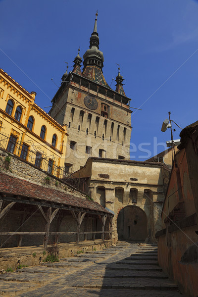 Clock Tower-Sighisoara,Romania Stock photo © RazvanPhotography