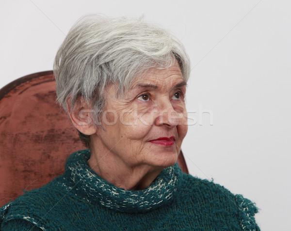 Portrait of an old woman Stock photo © RazvanPhotography