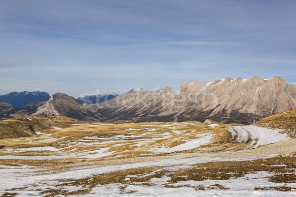 Foto stock: Esquí · dominio · nieve · invierno · imagen · alto