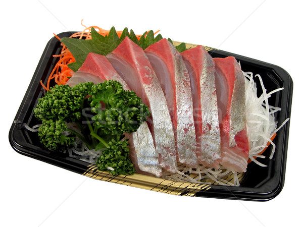 Sashimi balık Japon beyaz Stok fotoğraf © RazvanPhotography