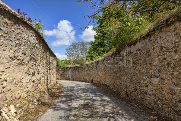 Road Between StoneWalls Stock photo © RazvanPhotography