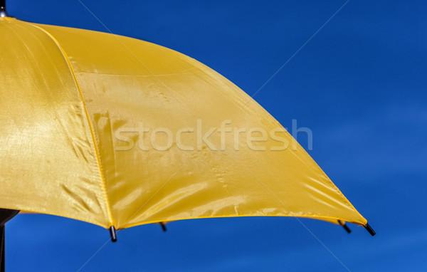 黄色 パラソル クローズアップ 画像 いい 青空 ストックフォト © RazvanPhotography