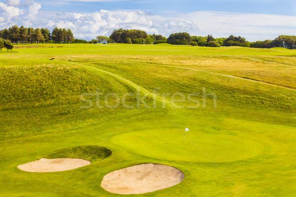 Foto d'archivio: Campo · da · golf · bella · verde · vuota · rurale · erba