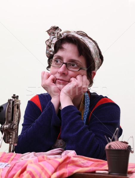 Portrait of a seamstress Stock photo © RazvanPhotography