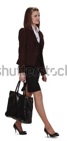 Komórkowych komunikacji młodych kobieta interesu telefonu komórkowego działalności Zdjęcia stock © RazvanPhotography