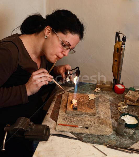 ювелирных женщины факел металл Сток-фото © RazvanPhotography