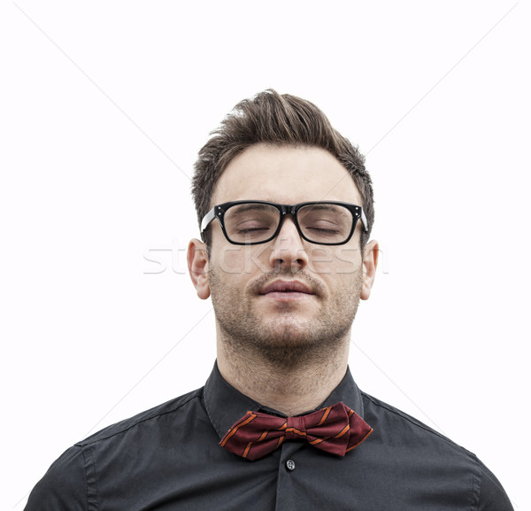 Portrait of a Young Man with His Eyes Closed Stock photo © RazvanPhotography