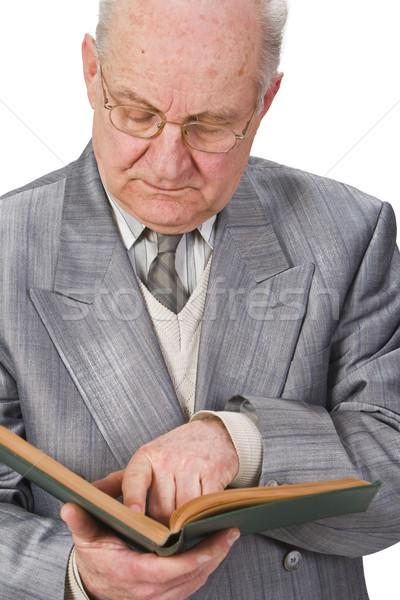 Senior reading a book Stock photo © RazvanPhotography