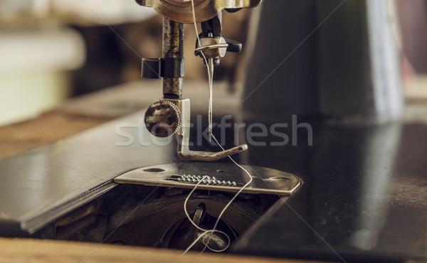 швейные машины подробность изображение иглы Vintage Сток-фото © RazvanPhotography