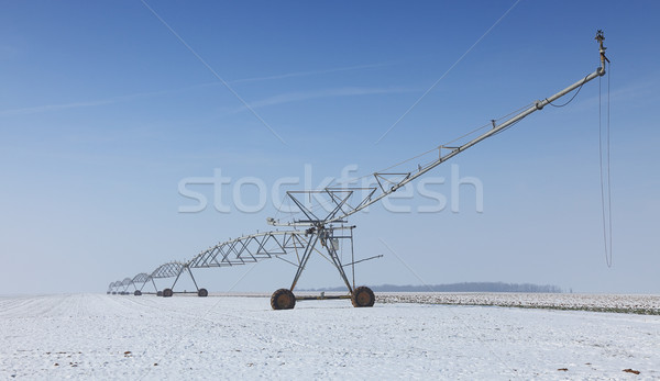Irrigation pivot in winter Stock photo © RazvanPhotography