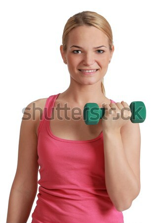 Young Woman with Dumbbell Stock photo © RazvanPhotography