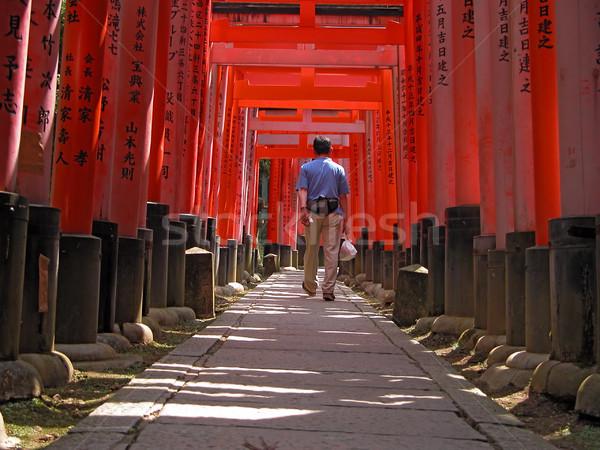 туристических туннель ходьбе оранжевый человека Сток-фото © RazvanPhotography