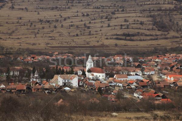 Román falu verzió régió korai tavasz Stock fotó © RazvanPhotography