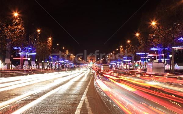 декабрь освещение светофор улице синий городского Сток-фото © RazvanPhotography