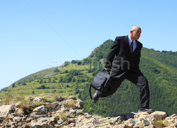Businessman running Stock photo © RazvanPhotography