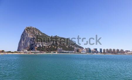 Rock gibraltar zachodniej twarz piękna lata Zdjęcia stock © RazvanPhotography