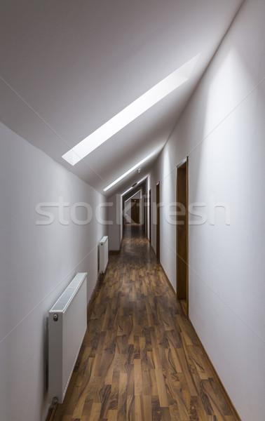 Corredor hotel moderna vacío pasillo marrón Foto stock © RazvanPhotography