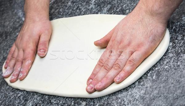 Making the Pizza - Hands Detail  Stock photo © RazvanPhotography