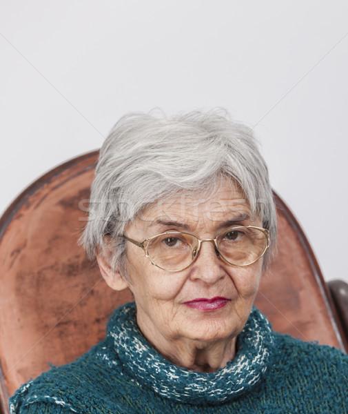Portret staruszka okulary patrząc Zdjęcia stock © RazvanPhotography