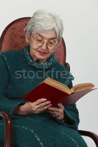 Old woman reading Stock photo © RazvanPhotography